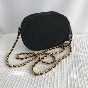 Lord & Taylor Black/Gold Cross Body Bag
